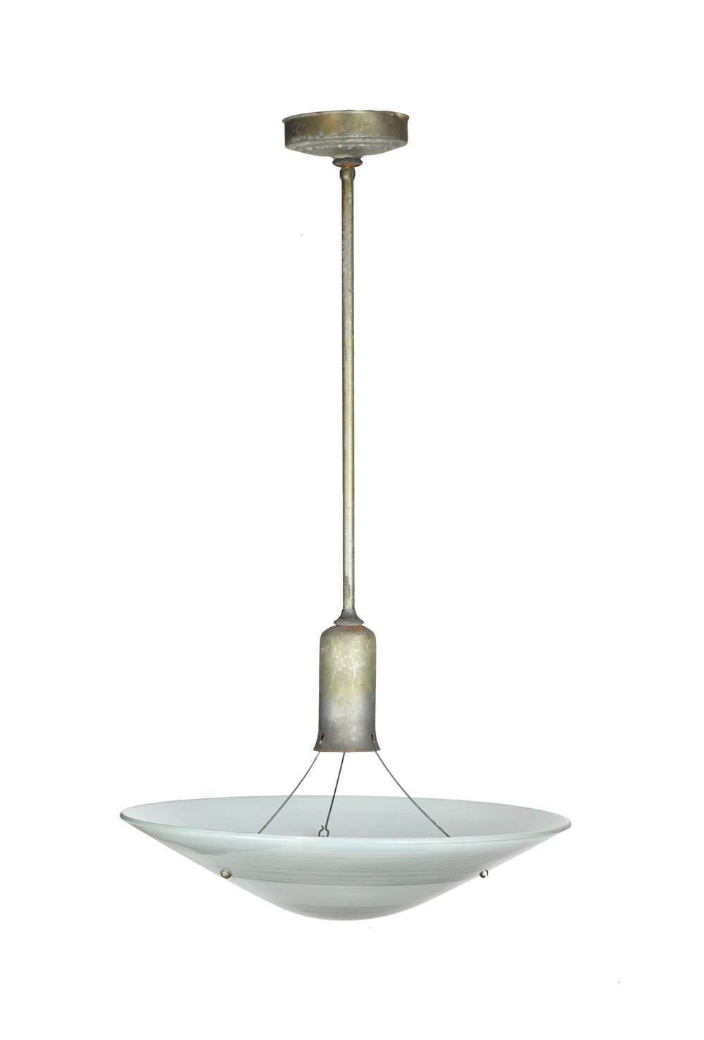 nickel deco pendant with shade