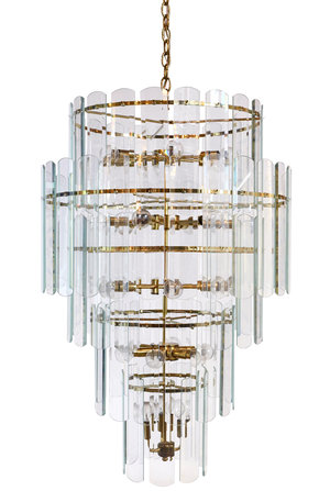 Tall glass and brass chandelier architectural antiques tall glass and brass chandelier mozeypictures Images