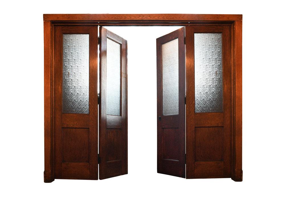 oak bi-fold doors - Oak Bi-fold Doors — ARCHITECTURAL ANTIQUES