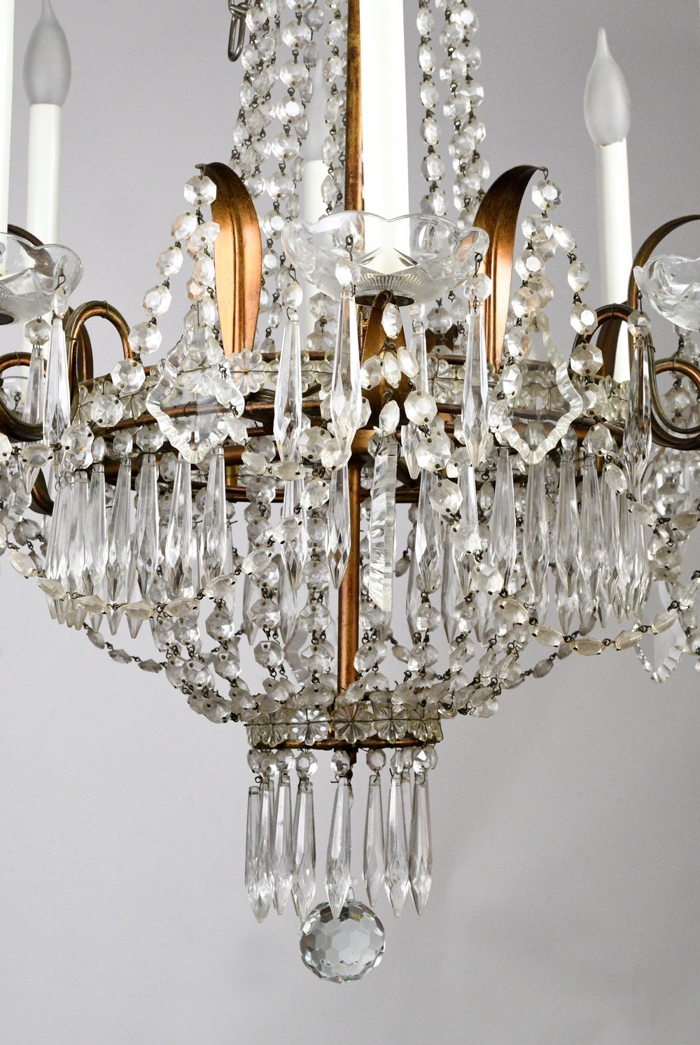 Eight light crystal chandelier architectural antiques 47667 8 light chandelier bodyg aloadofball Image collections