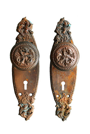 Russell & Erwin Bronze Plated Doorknob Set