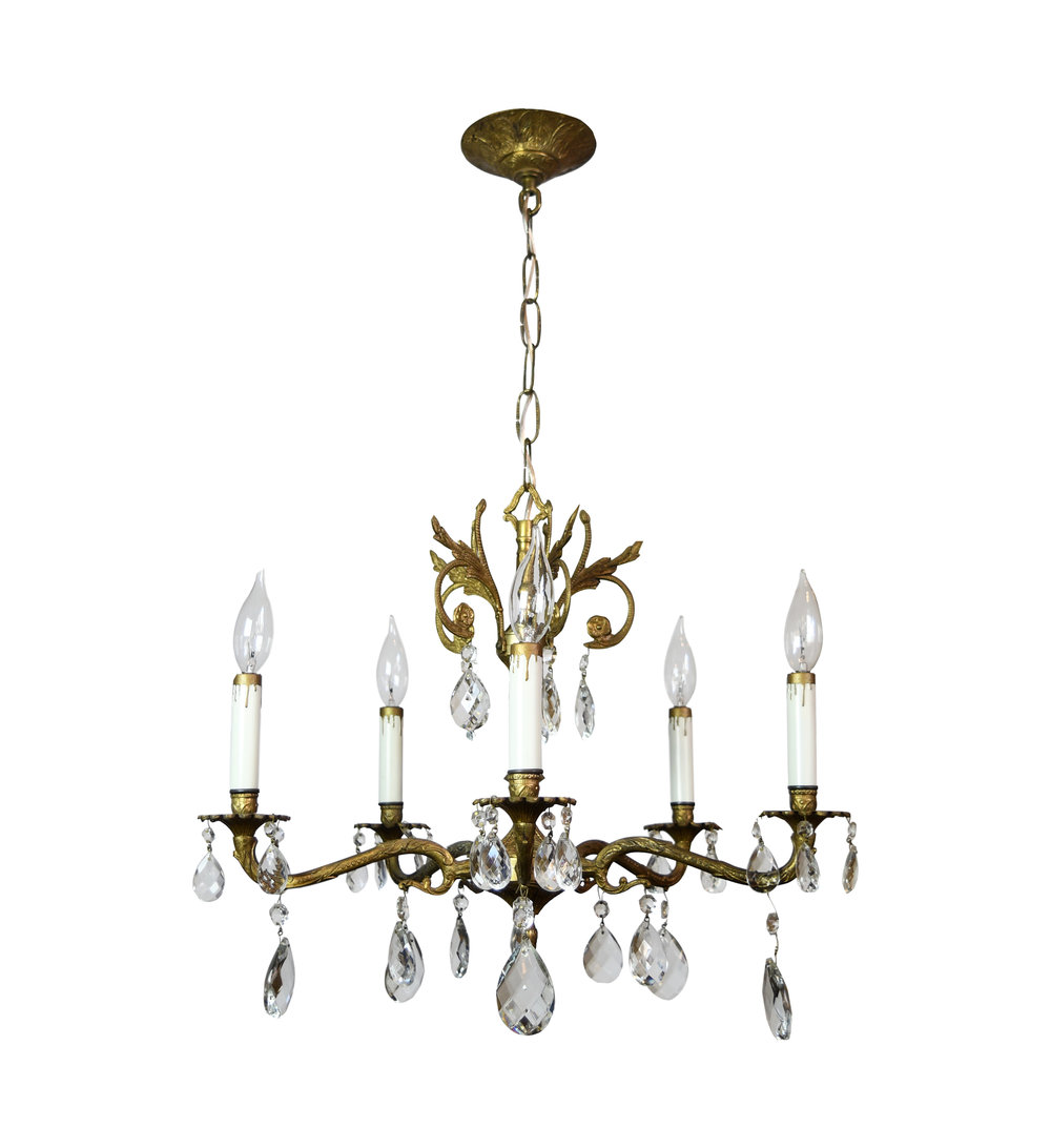5 arm spanish chandelier - 5 Arm Spanish Chandelier — ARCHITECTURAL ANTIQUES