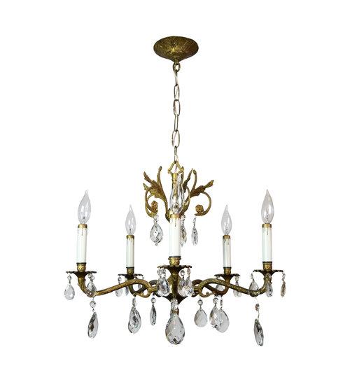 5 arm spanish chandelier architectural antiques 5 arm spanish chandelier mozeypictures Choice Image