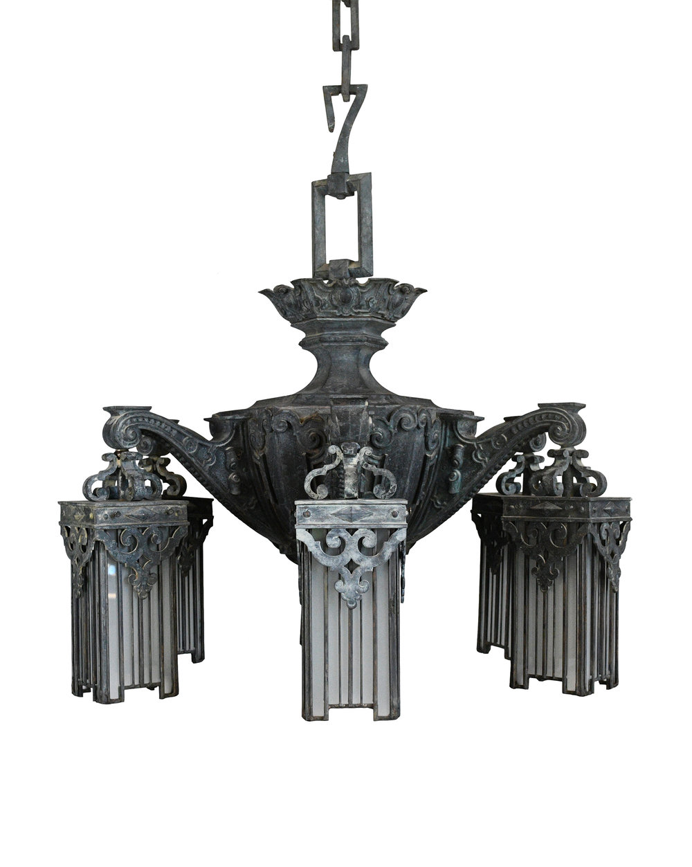cast bronze victorian chandelier