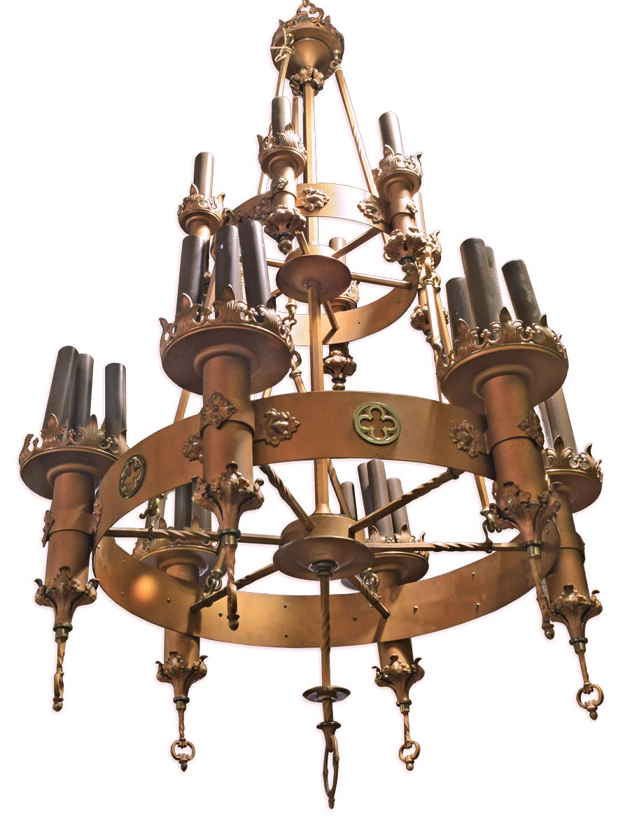 Two tier gothic chandelier architectural antiques 45472 2 tier gothic chandelier view 2g mozeypictures Gallery