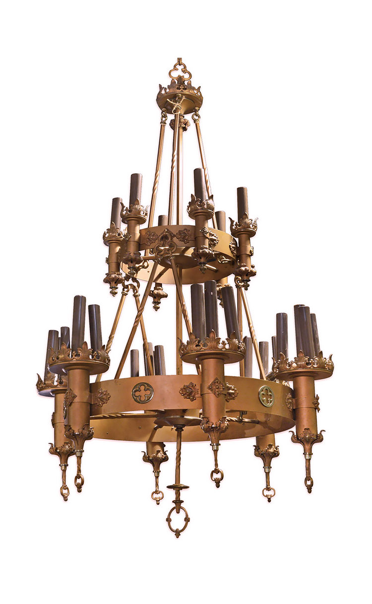 Two tier gothic chandelier architectural antiques two tier gothic chandelier aloadofball Images