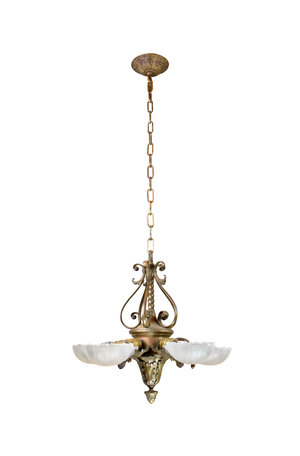 Art deco slip shade chandelier architectural antiques art deco slip shade chandelier aloadofball Gallery