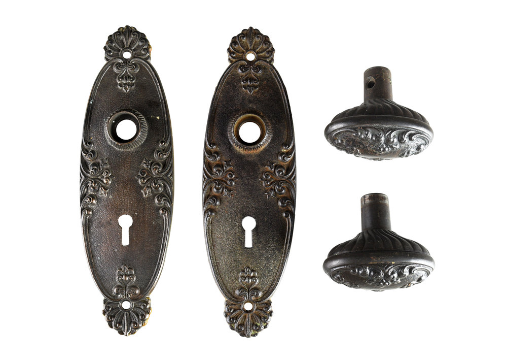 ornate victorian hardware set