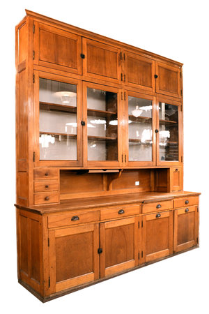 Tall Built In Maple Kitchen Cabinet Architectural Antiques