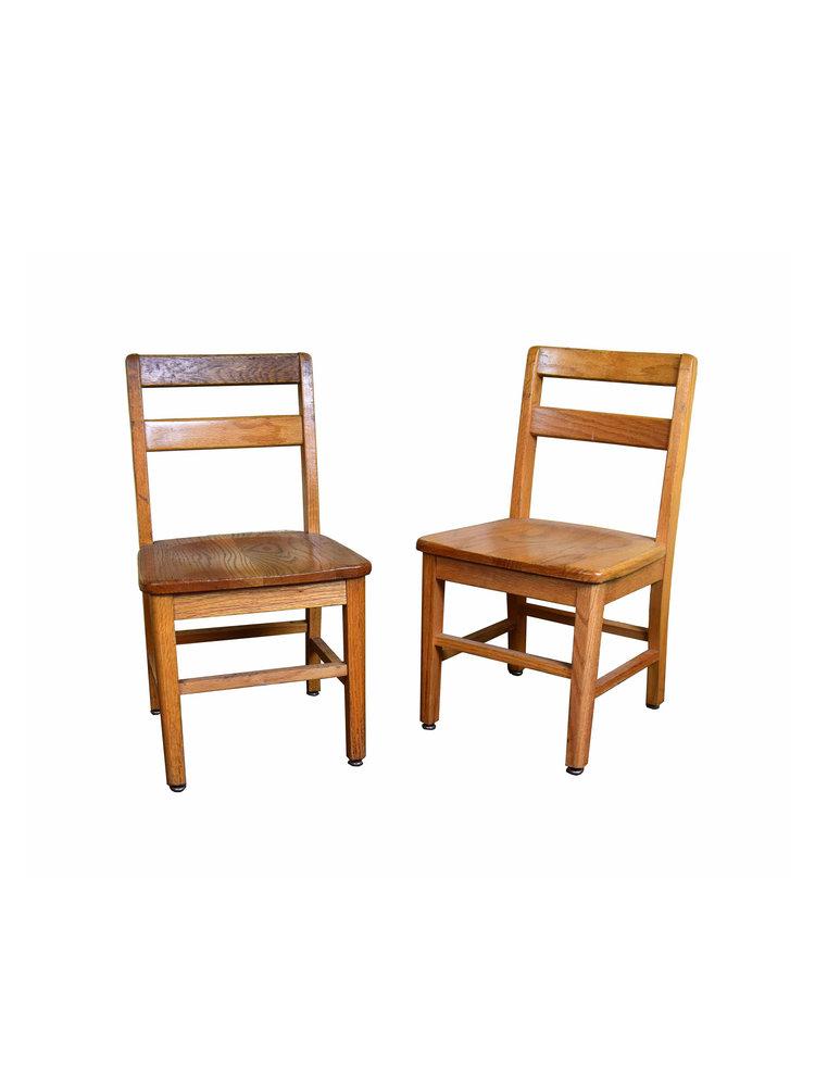 oak kids chairs