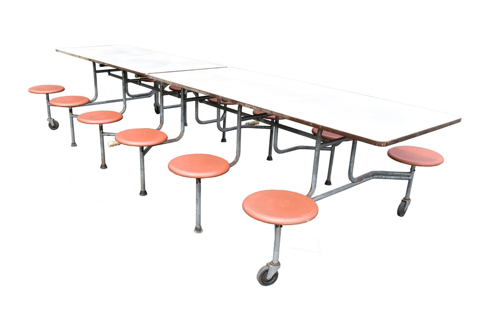 cafeteria table - 4 available