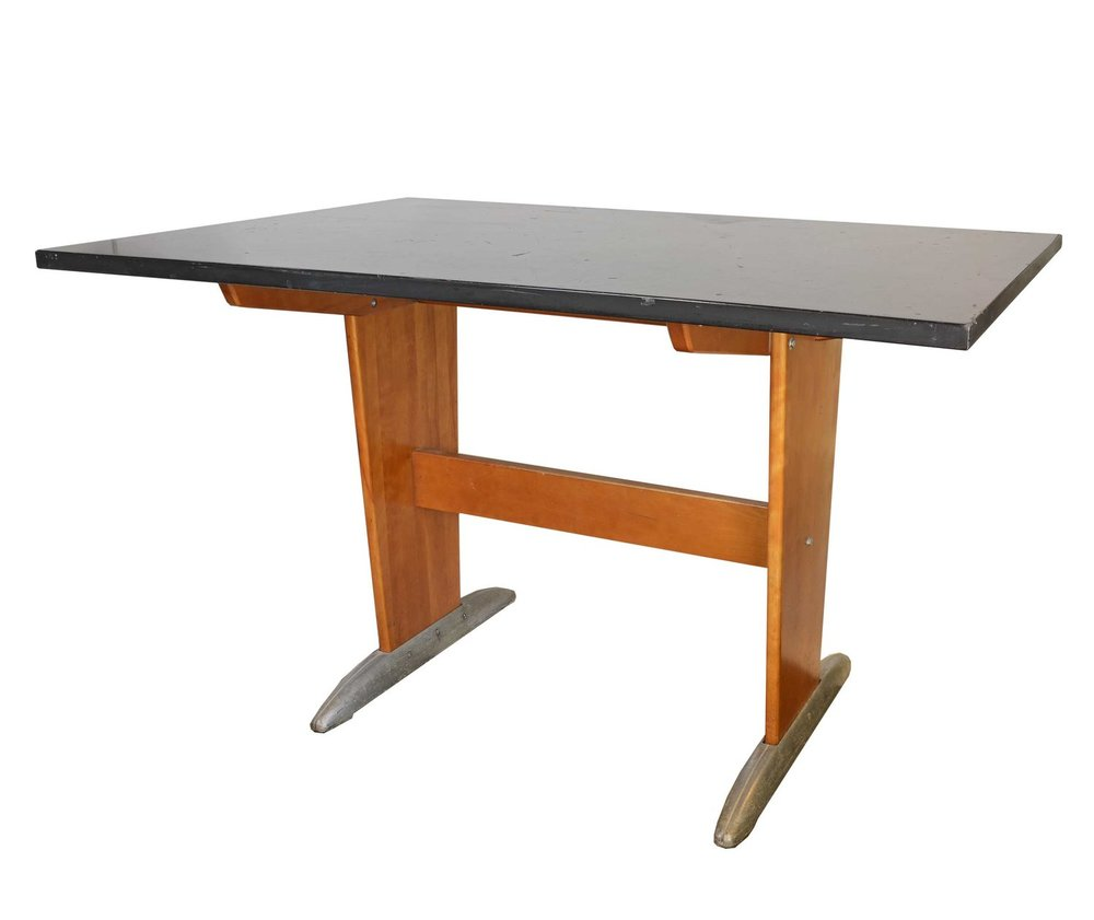 1950's maple lab table - 3 available