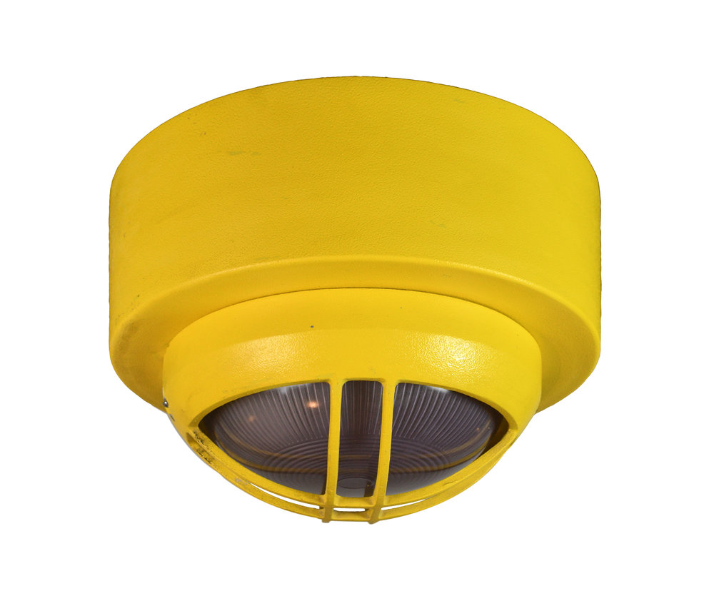 yellow wall/ceiling mount nautical light