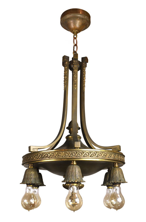 Chandeliers architectural antiques 47872 bronze six light chandelier maing aloadofball Choice Image
