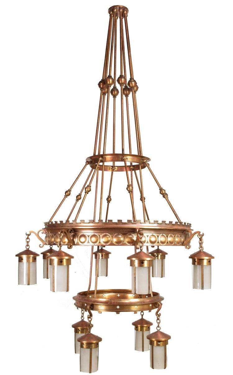 Immense arts crafts twelve lantern chandelier 2 available immense arts crafts twelve lantern chandelier 2 available aloadofball Images