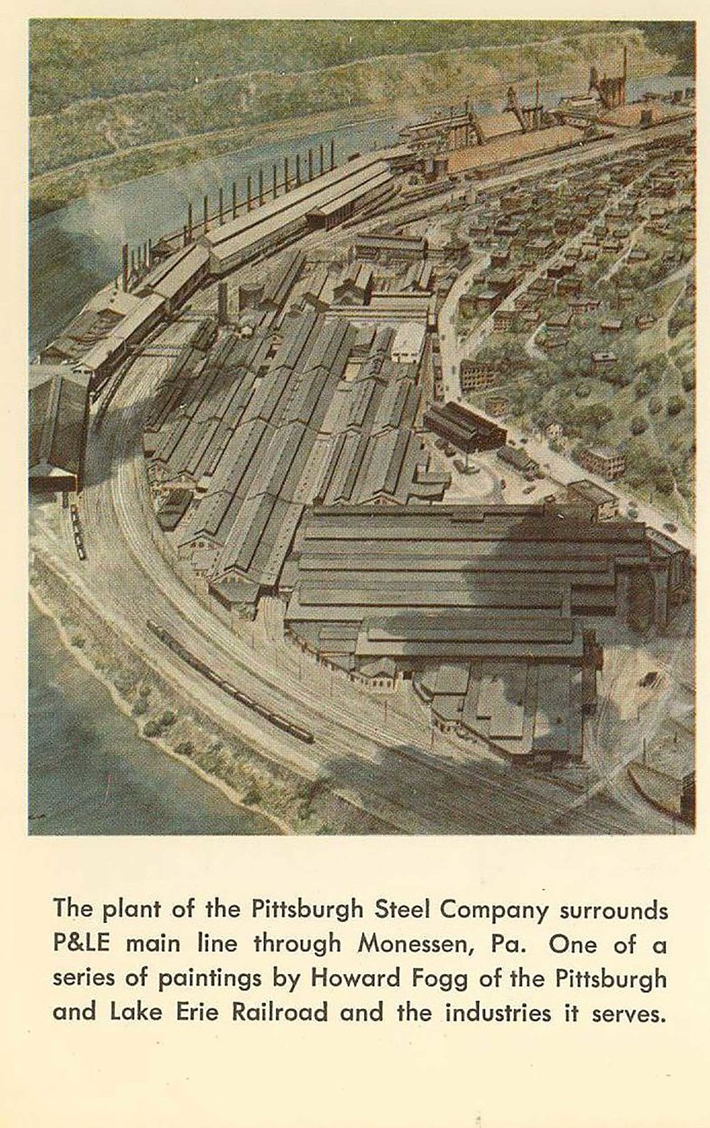 P&LE-Postcard-by-Howard-Fogg---Pittsburgh-Steel-Company,-Monesson,-PA.jpg