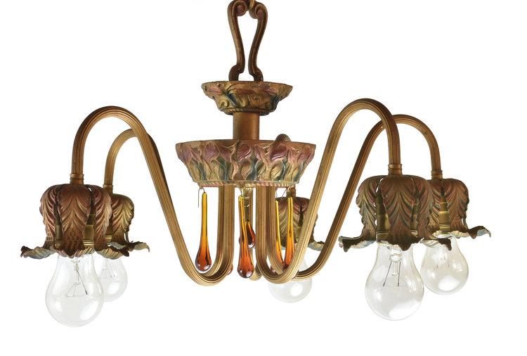 48021 moe bridges 5 light chandelier 1.jpg - Chandeliers — ARCHITECTURAL ANTIQUES