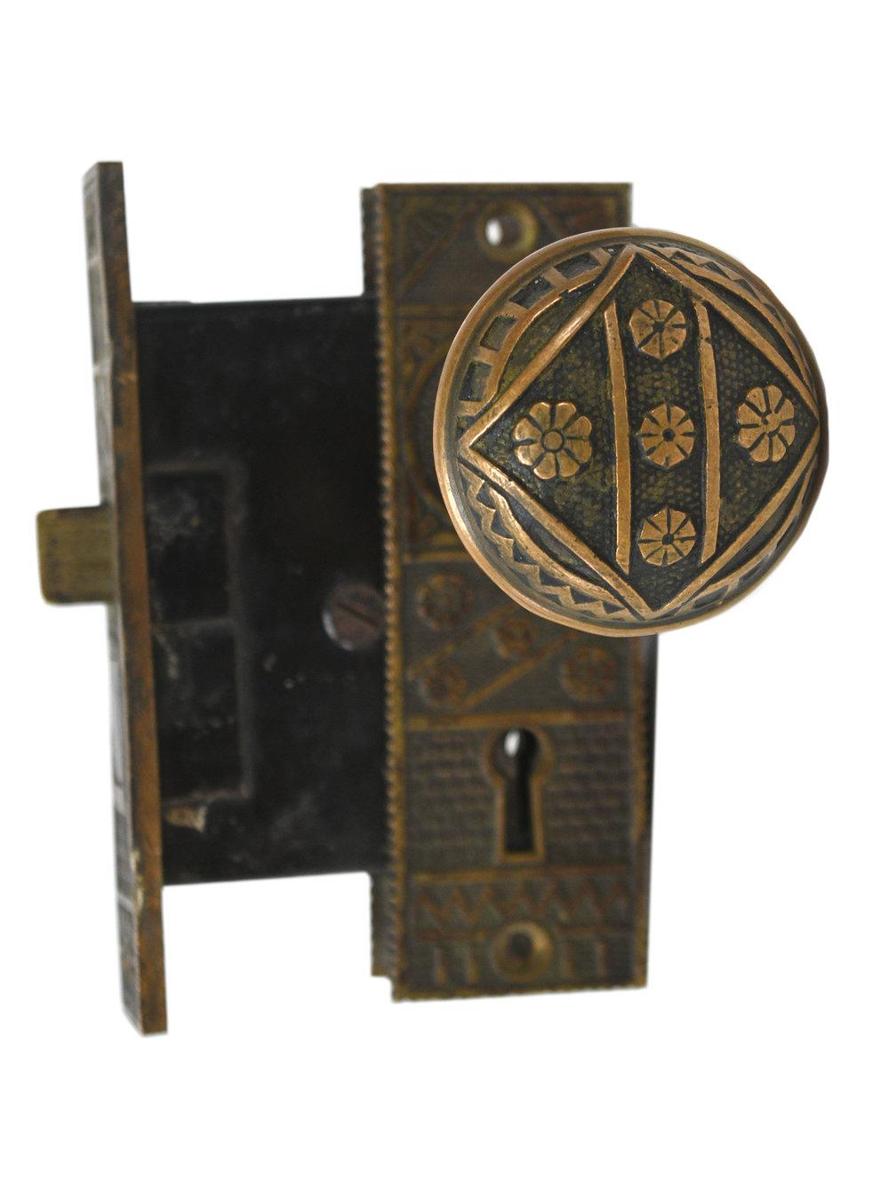 EASTLAKE DOOR HARDWARE SET AA# 22000-001   2 sets available $295.00 each set