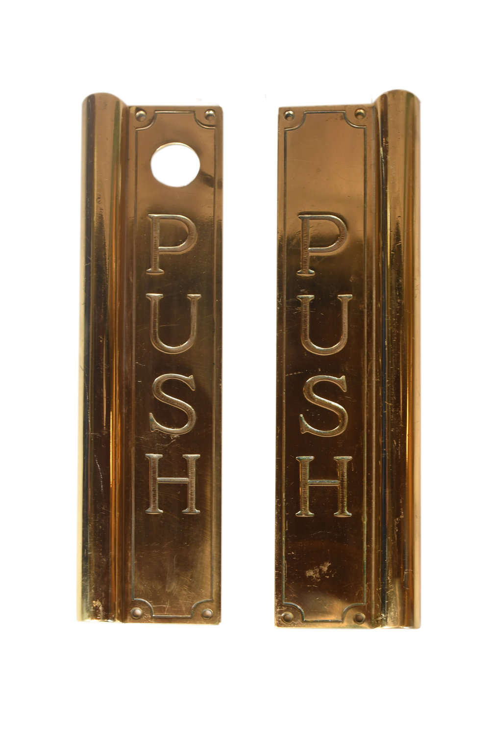 CAST BRASS PUSH PLATES AA# H20172   1 set available $285.00 for set