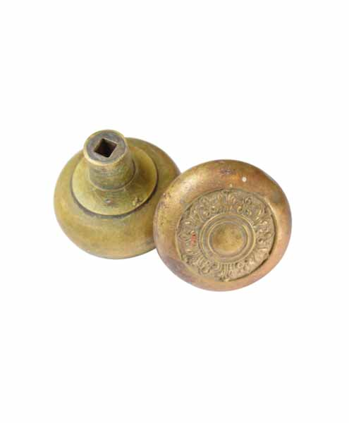 CONCENTRIC BRASS DOOR KNOB SET AA# H20178   4 sets available $116.00 each set