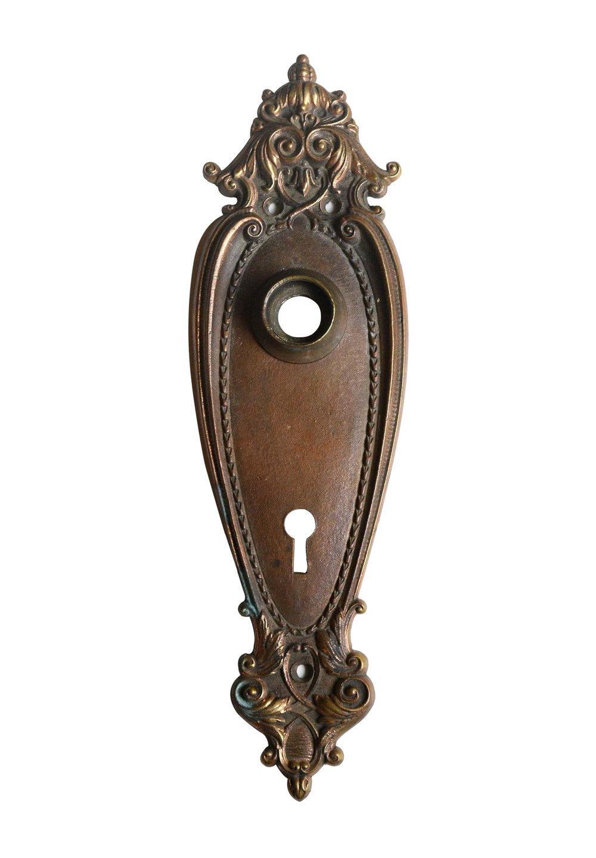 VICTORIAN BRONZE DOOR PLATE AA# 42968   4 available $68.00 each