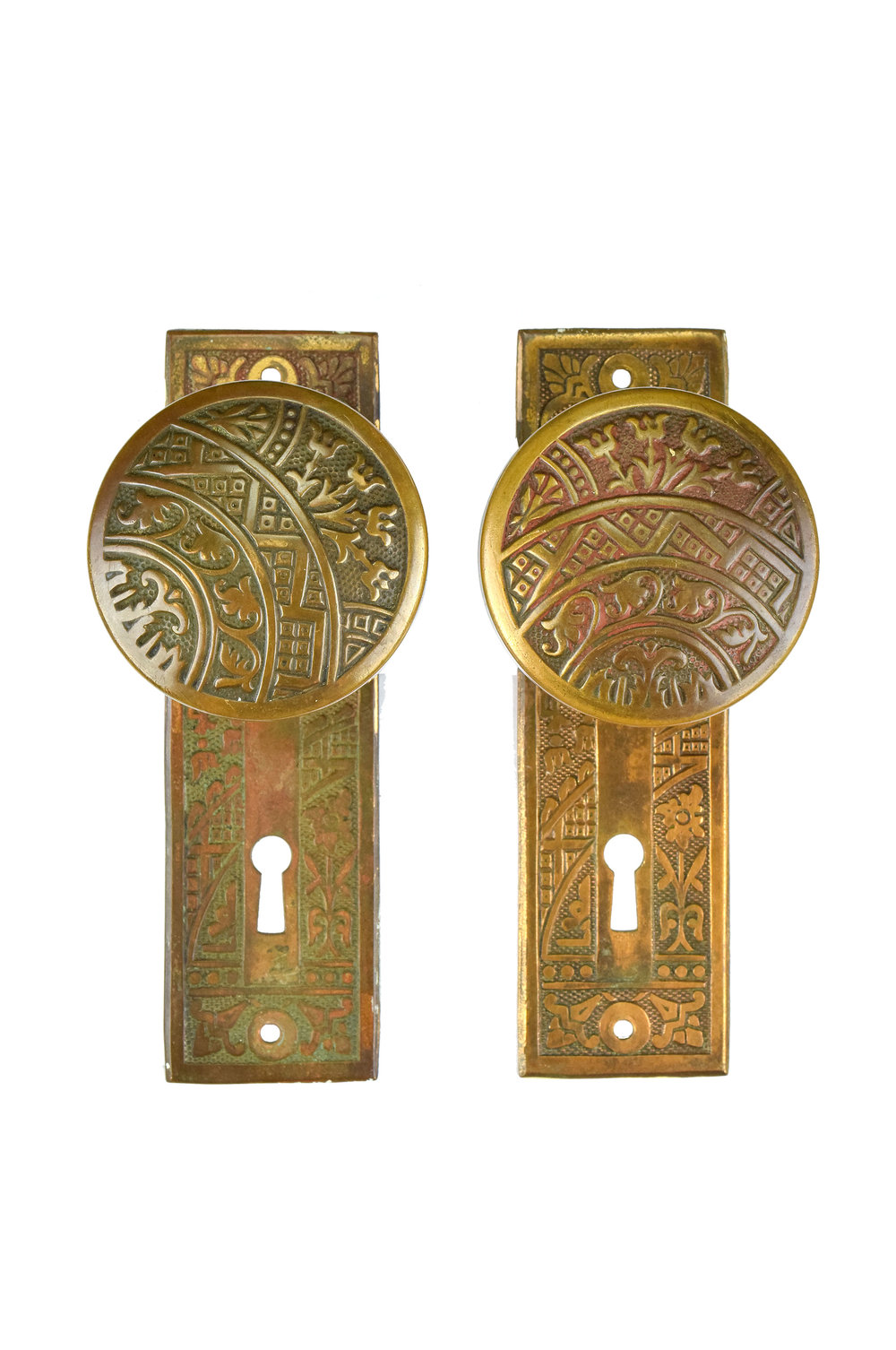 EASTLAKE BRASS KNOB SET AA# H20119   2 sets available $265.00 each set