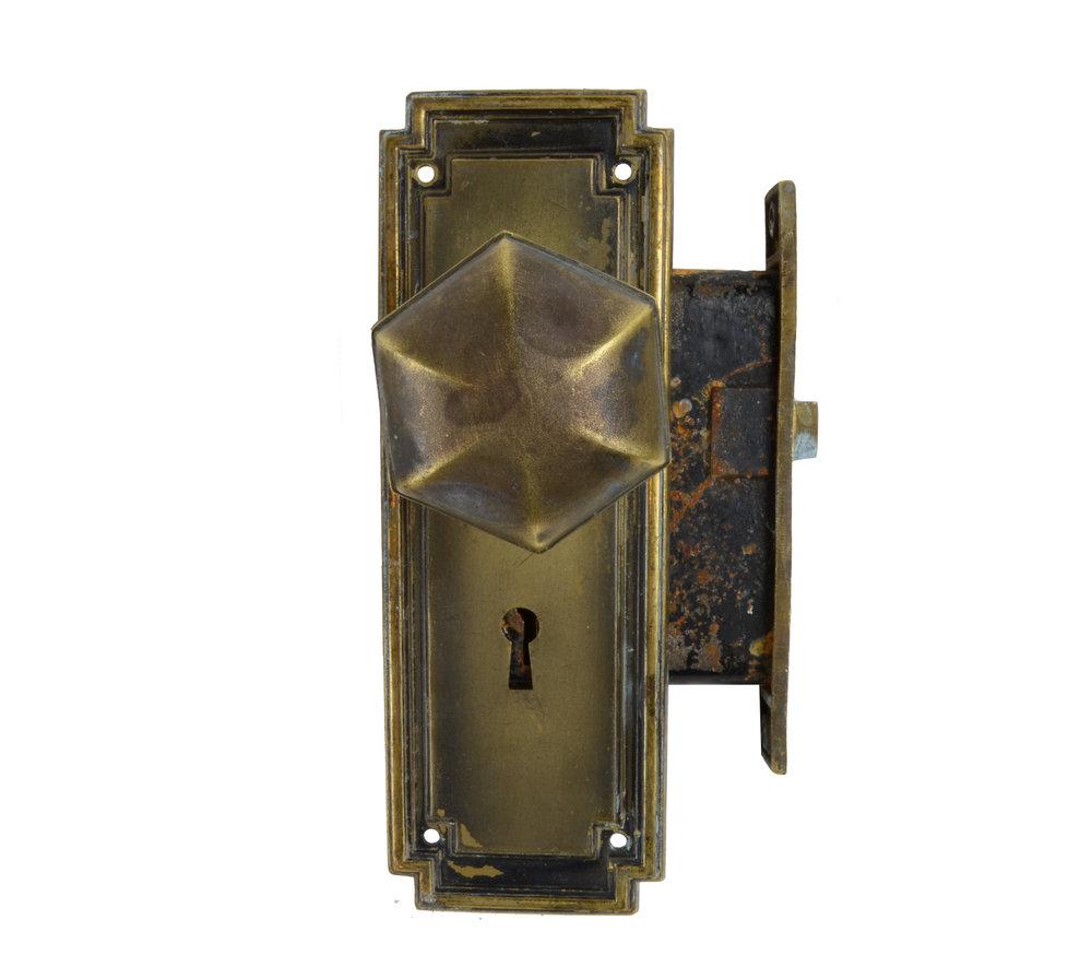 BRADFORD LOCK CO. HEXAGONAL KNOBSET AA# H20077   3 sets available $135.00 each set