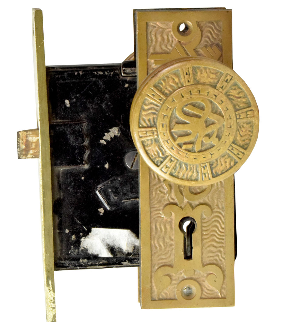 CAST BRONZE DOOR HARDWARE SET AA# 22000-005   3 sets available $295.00 each set