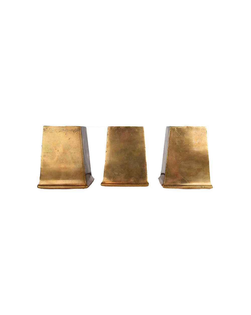 BRONZE SQUARE FEET AA# H20112   1 set of 6 available $225.00 for set