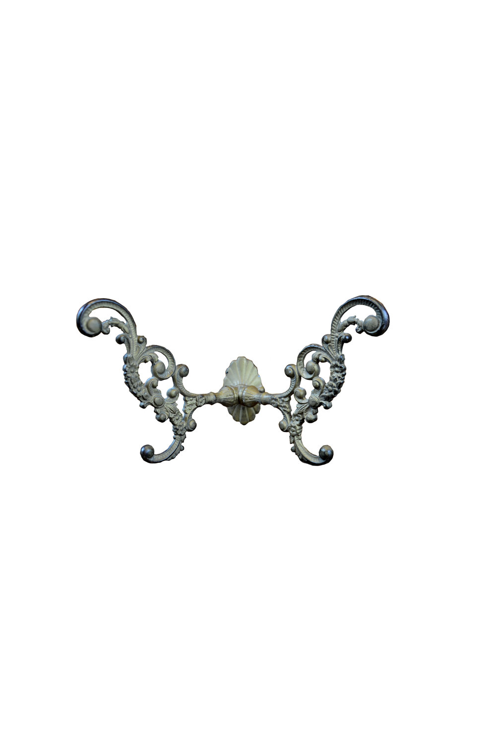 BRASS PLATED AND IRON OXIDIZED COAT TREE HOOK AA# 46876-B   1 available $165.00 each