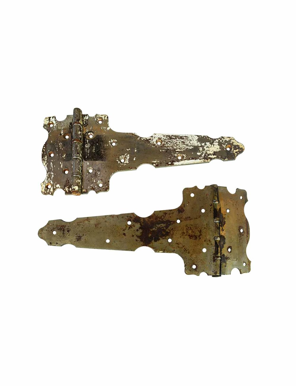 EXTRA LARGE CHROME PLATED STRAP HINGES AA# H20213   1 pair available $145.00 for pair
