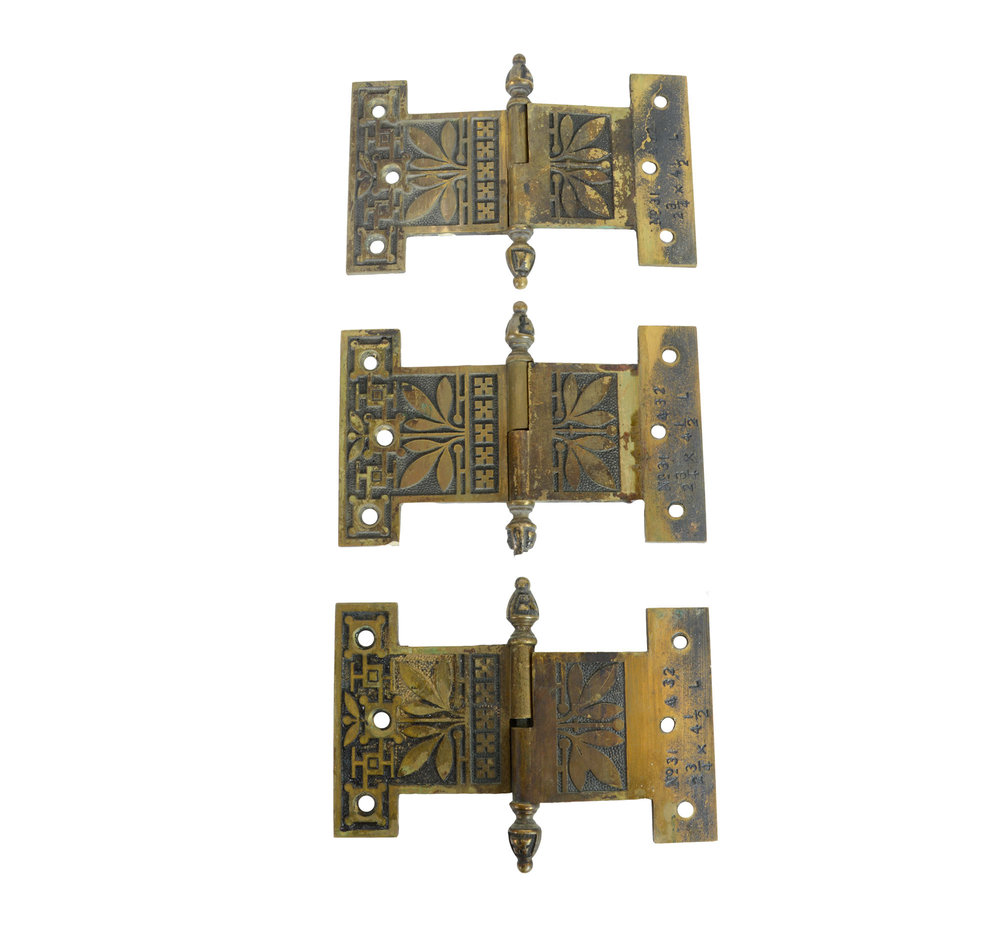 CAST BRASS EASTLAKE HINGES AA# H20082   7 available $42.00 each