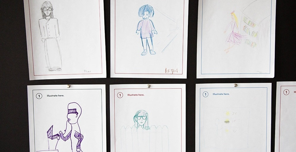 Participants were instructed to draw what Alexa would look like based on the sound of Alexa's voice. Here are some of the illustrations.
