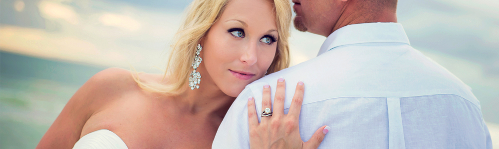Beach Wedding Romantic Portraits