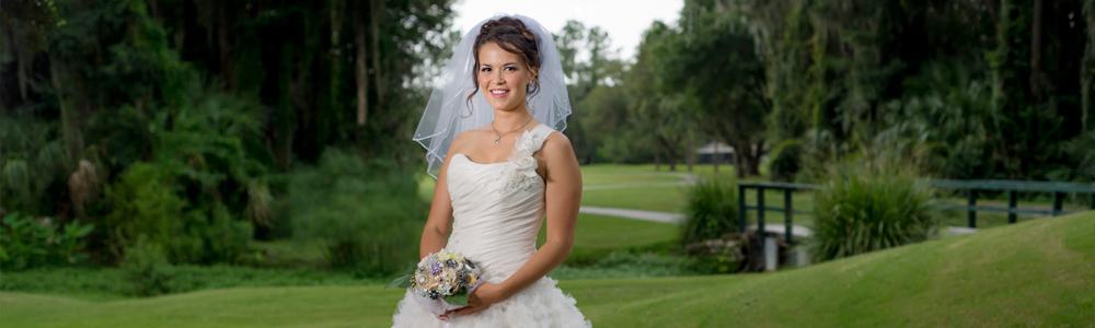 Bridal Portrait at Golf Course