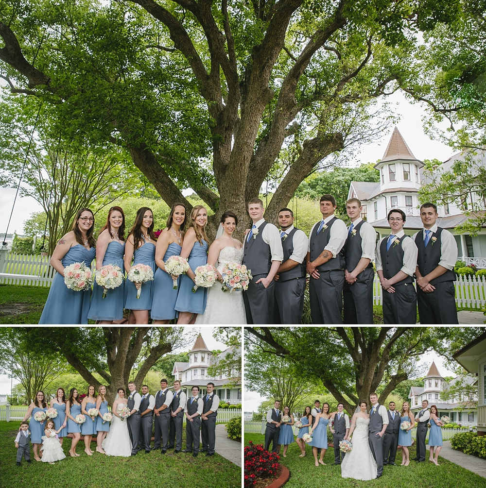 bridal party palmetto riverside B&B wedding photos