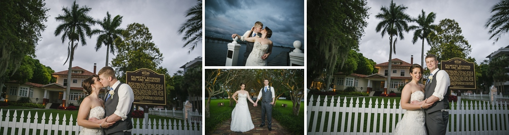 sunset palmetto riverside B&B wedding photos