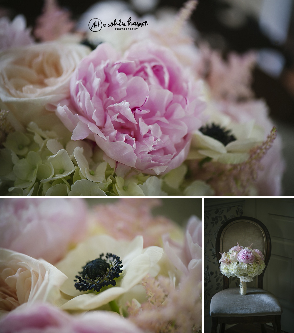Peony Wedding Bouquet at highland manor orlando