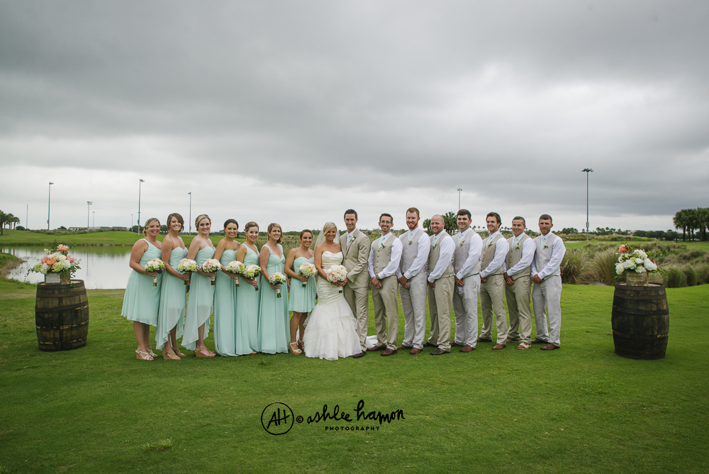 duran golf club wedding bridal party photo