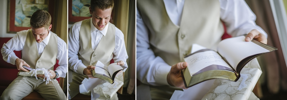 groom bible gift at the sirata wedding