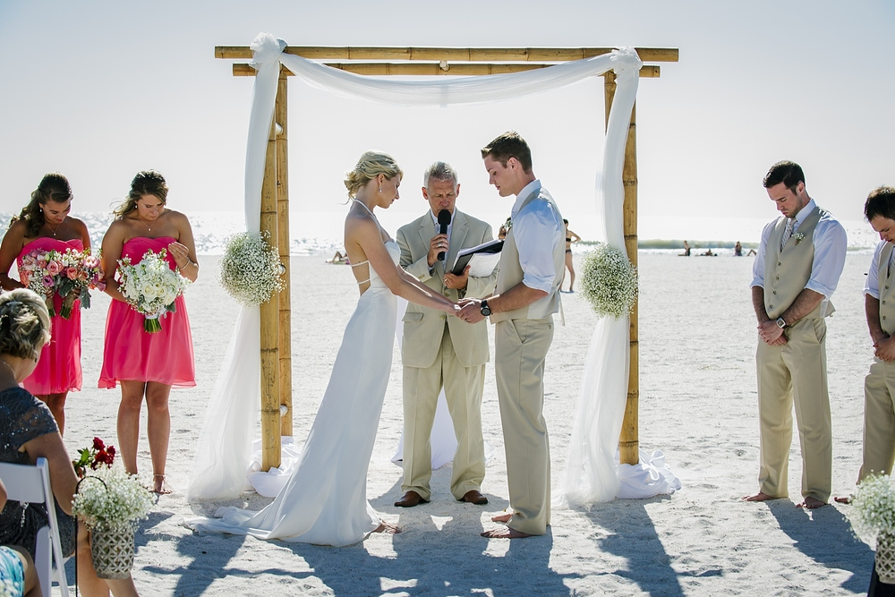 sirata beach wedding photo