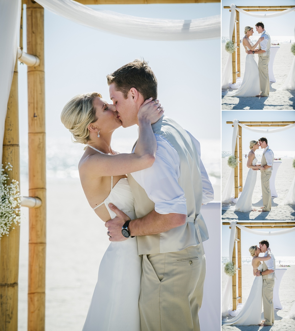 first kiss sirata beach wedding photos