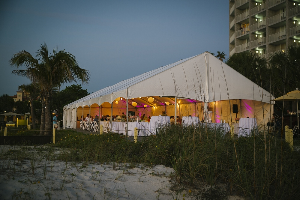 coconut palm  pavilion sirata beach wedding photos