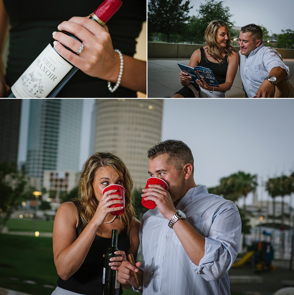 fun tampa engagement photography