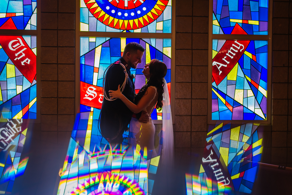 Megan and Joe had a magical wedding day with 200+ of their family, friends, and congregation. I loved how my nifty prism created an amplified effect with the gorgeous stained glass.