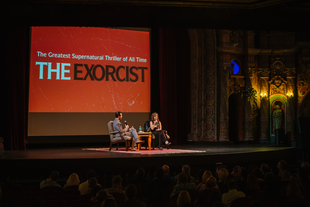 Then for Halloweeen I covered a meet and greet with Linda Blair of the Exorcist at the Tampa Theater....eeeee