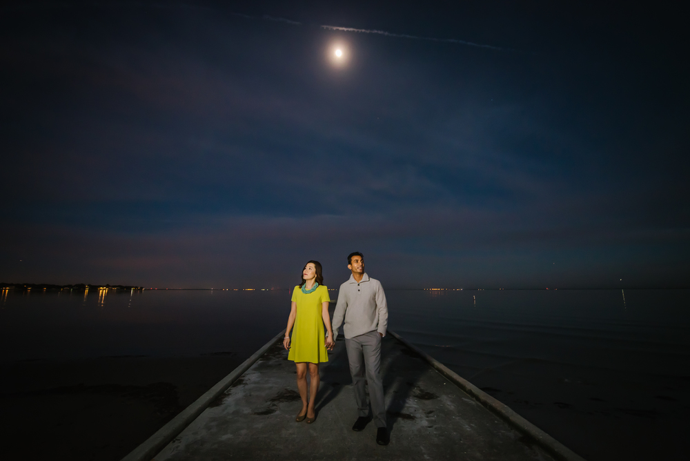 tampa-engagement-photographer-session-downtown-st-pete-petersburg-florida-night-sunset-blue