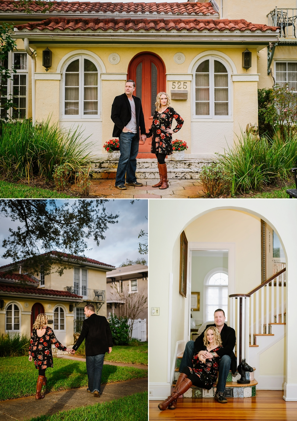 Cozy at home engagement photography tampa