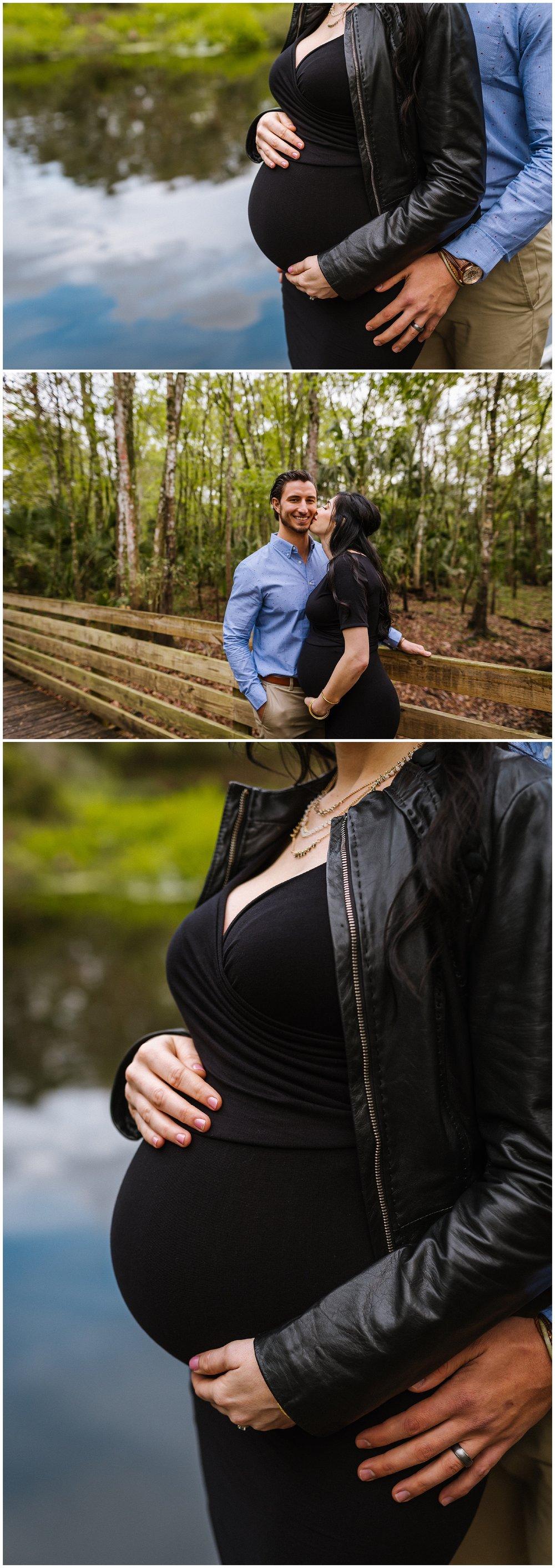 Tampa-maternity-photographer-morris-bridge-park-hip-tight-black-dress-woods_0008.jpg