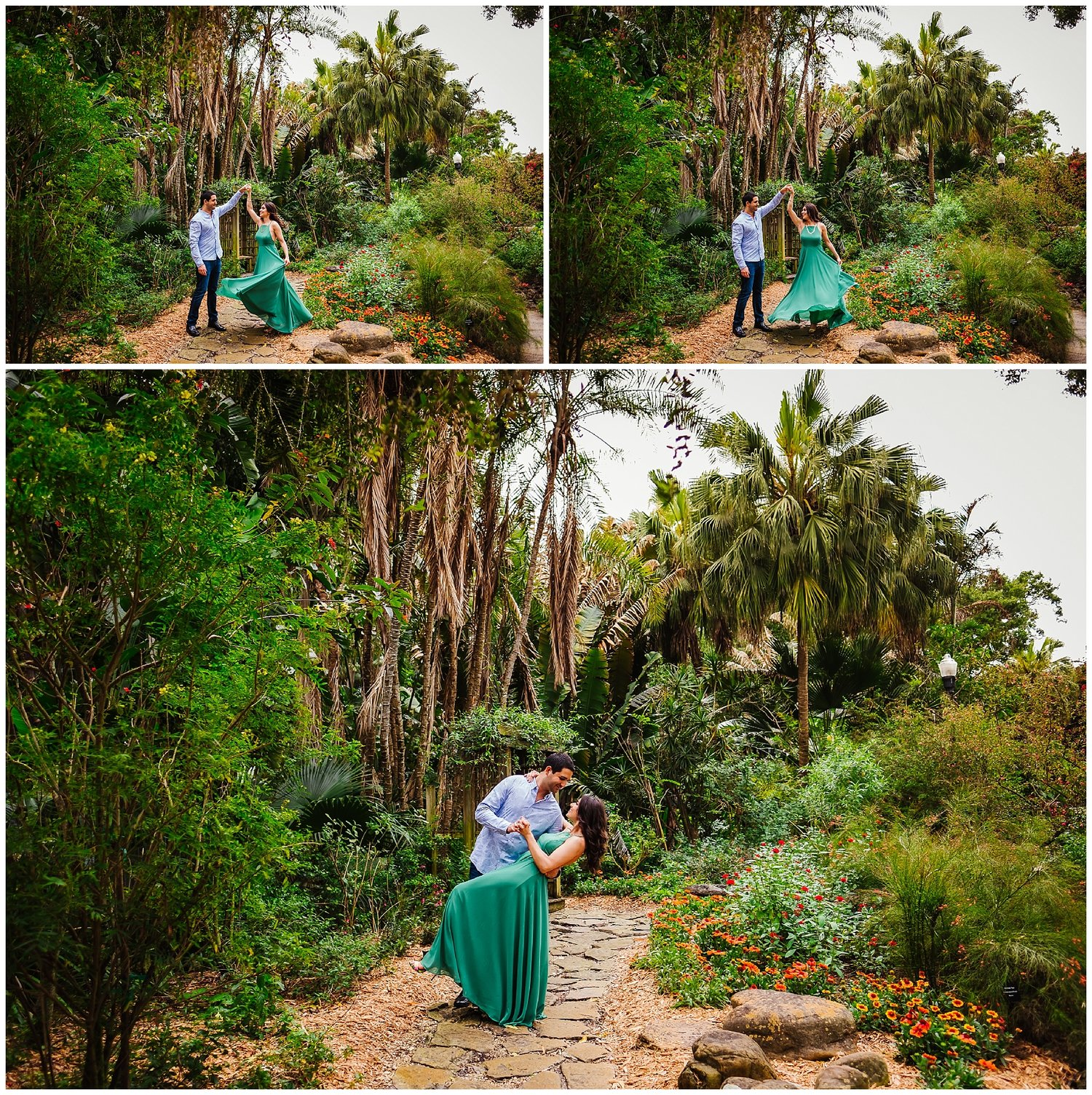 Tropical Engagement Session || Sunken Gardens, FL — Tampa Wedding ...